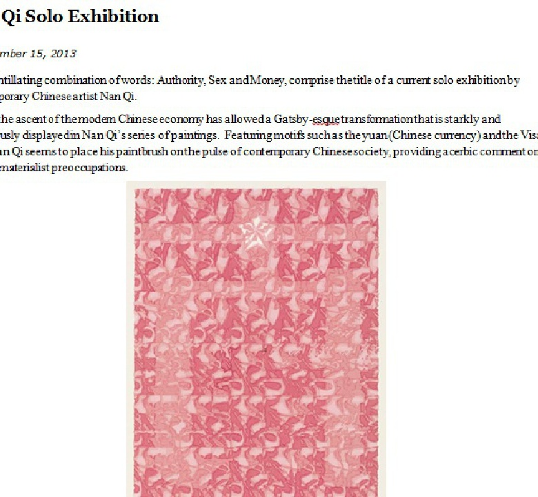 Nan Qi: Solo Exhibition