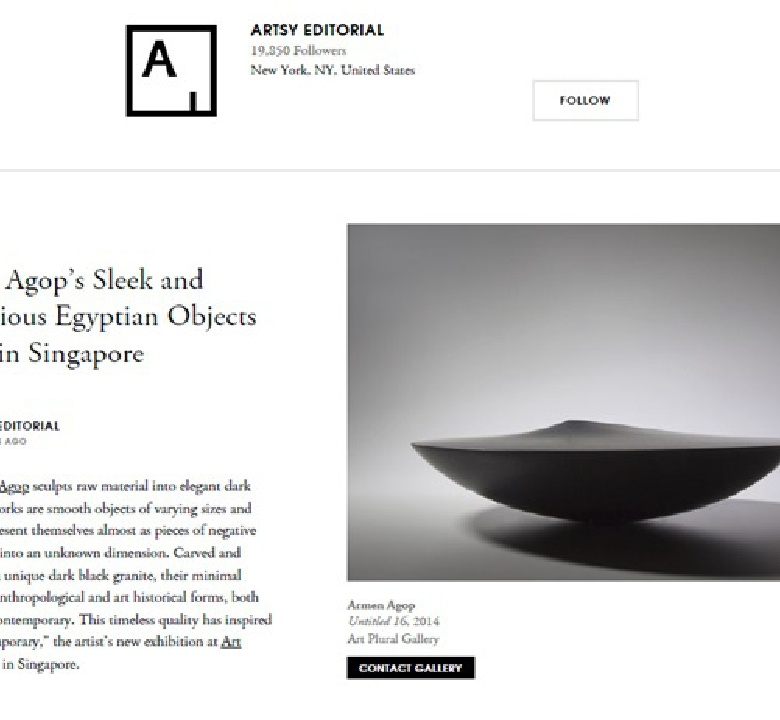 Armen Agop's Sleek and Mysterious Egyptian Objects Arrive in Singapore